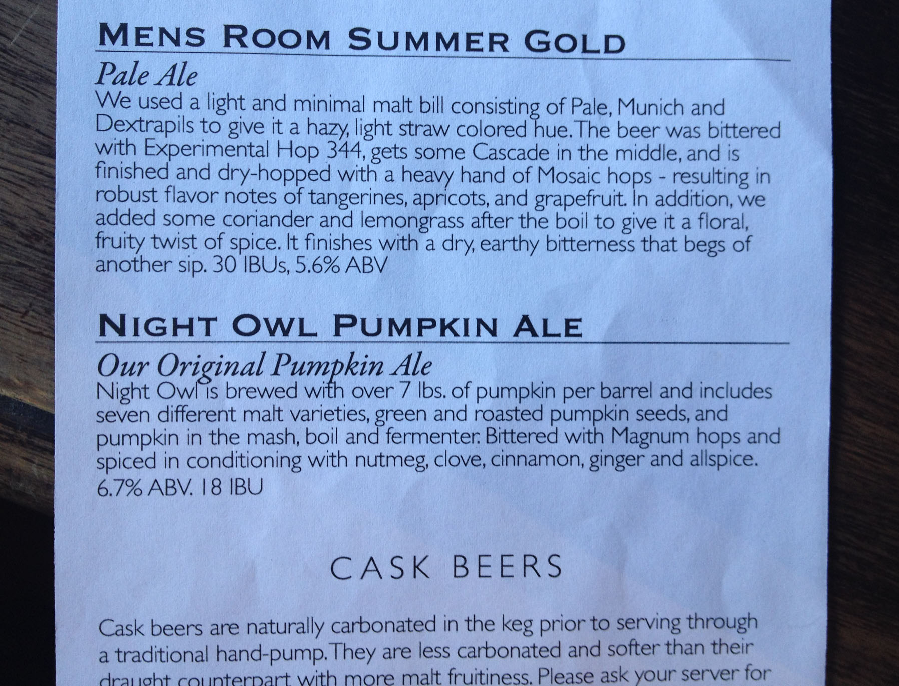 2015 Mariners Game Nightowl Ale